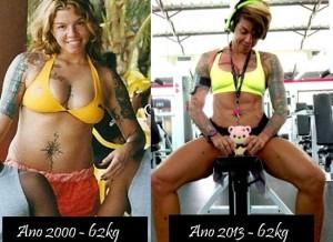 Penélope Nova - antes e depois